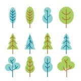 Set of flat trees royalty free illustration