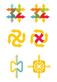 Set of flat vector arrows icons Royalty Free Stock Photo