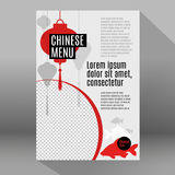 Set of flat vector elements for chinese restaurant Stock Images