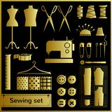 Set of flat vector icons Royalty Free Stock Photos