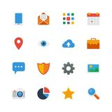 Set flat vector icons. Stock Image