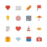 Set flat vector icons. Stock Photos