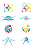 Set of flat vector icons Royalty Free Stock Image