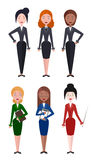 Set of  flat vector illustrations women business worker, teacher Stock Photos