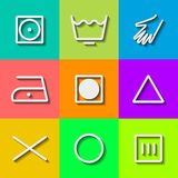 Set of Flat Wash Icons. Vector Stock Photos