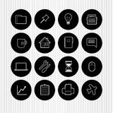 Set of flat web design icons Royalty Free Stock Photos