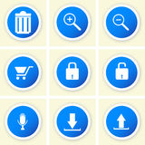 Set of flat web design icons Royalty Free Stock Photo