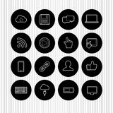 Set of flat web design icons Stock Photos