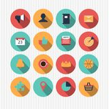 Set of flat web design icons Stock Images