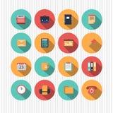 Set of flat web design icons. Illustrated set of different flat web design icons Royalty Free Stock Photo