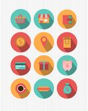 Set of flat web design icons Stock Photography