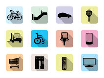 Set of flat  web icon.(facilities) Royalty Free Stock Photography