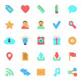 Set of flat web icons Stock Photos