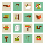 Set of  flat working tools icons. Repair their own hands. Stock Photography
