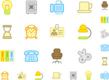 Set of flat workplace icons Royalty Free Stock Images