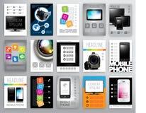 Set of flayers design template Stock Photos