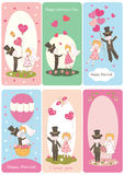Set of flayers for Valentines Day Royalty Free Stock Image