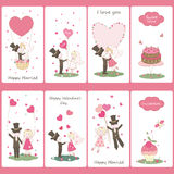 Set of flayers for Valentines Day Stock Photos