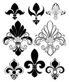 Set of Fleur de Lis Royalty Free Stock Image