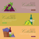Set of Fliers for Elite Wine Collections. Royalty Free Stock Images