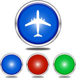 Set of flight and blank buttons Royalty Free Stock Image