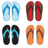 Set flip flops  on white Stock Image