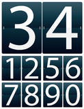 Set of flipping digits. For clock or calendar, easy editable Stock Photography