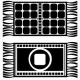 Set of floor mats isolated on white Stock Photos