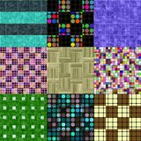 Set of floor seamless generated textures Royalty Free Stock Photos