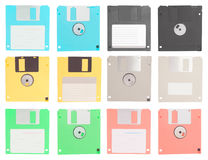 Set of floppy disk isolated Royalty Free Stock Image