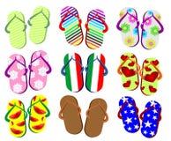 Set Flops Summer Royalty Free Stock Image
