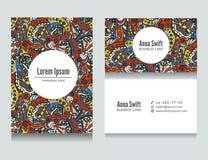 Set flora barwiący abstrakcjonistyczny wizytówka projekt ilustracji