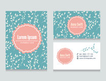 Set of flora creative business cards design Royalty Free Stock Photos
