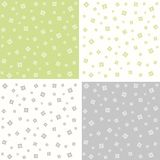 Set of floral abstract seamless patterns. Vector Stock Photography