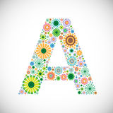 set of floral alphabet-letter A Royalty Free Stock Images