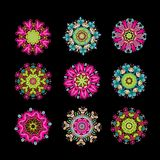Set of floral arabesque for your design Royalty Free Stock Photography
