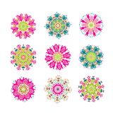 Set of floral arabesque for your design Royalty Free Stock Image