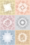 Set floral background gray, blue, yellow, Stock Photography