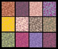 Set of floral backgrounds Stock Images