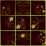 Set of floral backgrounds. A  illustration for your design project Royalty Free Stock Photo