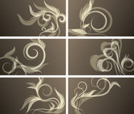 Set of floral backgrounds. Set of elegant floral backgrounds stock illustration