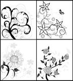 Set of floral backgrounds Stock Photography