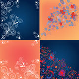 Set of  floral backgrounds. Set of decorational floral backgrounds Stock Photo
