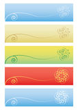 Set of floral backgrounds. Vector illustration Royalty Free Stock Photos