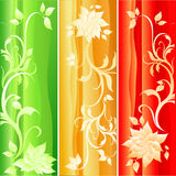 Set of floral backgrounds. Illustration Stock Photography