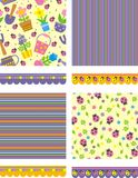 Set of floral backgrounds and borders Royalty Free Stock Photos