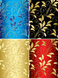 Set of floral backgrounds with gradient - vector Royalty Free Stock Photography