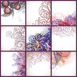 Set Of Floral Backgrounds. Royalty Free Stock Photography
