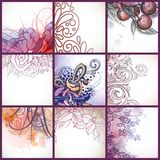 Set Of Floral Backgrounds. Vector Illustration. Eps 10 Stock Images
