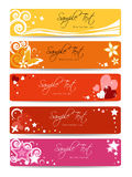Set of floral banner background. Banner collection  - web template - pink girl Royalty Free Stock Photo